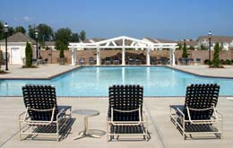 Take a dip in the swimming pool at apartments in Huntersville