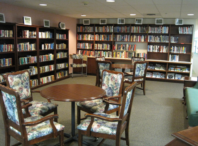 Elaborate library featured in Hillsboro, OR senior living community