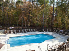 Take a dip in the swimming pool at townhomes in Chapel Hill