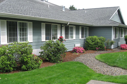 Secure grounds featured at our Lebanon, OR senior retirement community