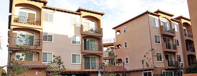 Exterior shot of Cantabria senior apartments in panorama city