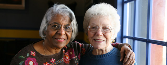 Friends at our Buena Park, CA senior apartments