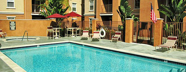 Pool at Buena Park senior apartments