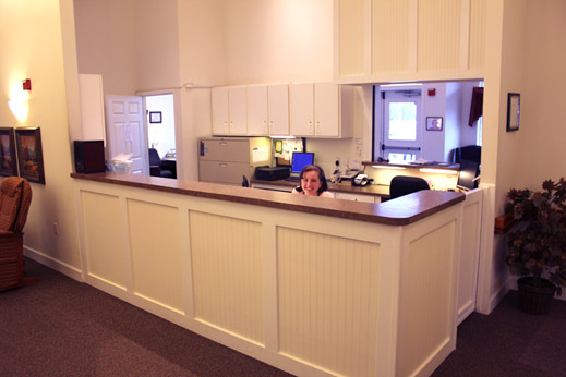 Friendly reception desk