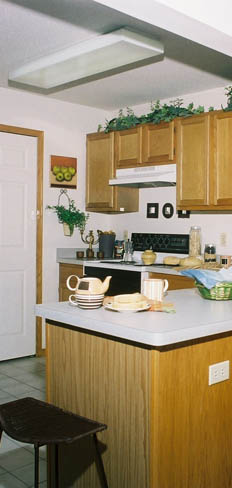 Interior view of kitchen at apartments in Kenosha