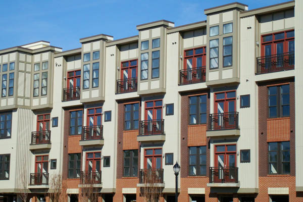 Urban apartment building in Chapel Hill, NC