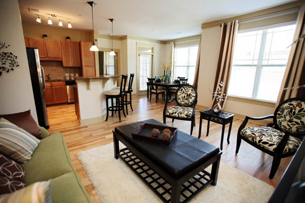 Spacious open floor plans at our apartments for rent in Chapel Hill, NC 27514