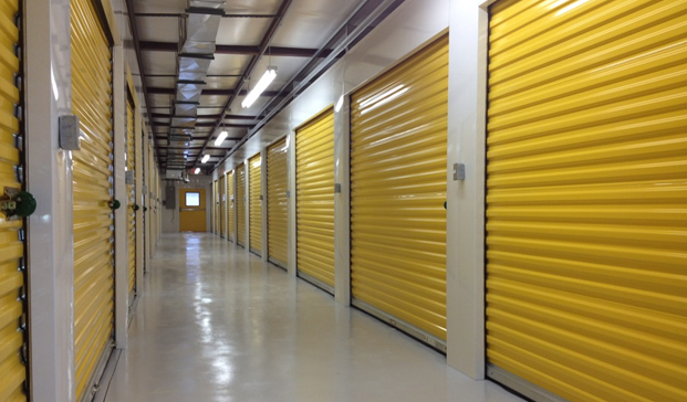 Storage yellow doors