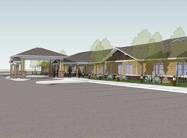 Rendering of senior living community that is coming soon