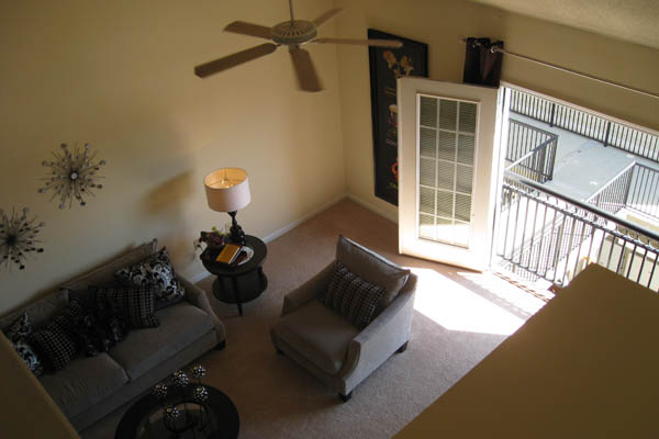 Loft overlook at apartments in Huntersville