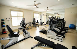 Sweat out your stresses in the Chapel Hill apartments fitness center