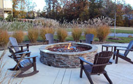 Relax by the fire at apartments in Chapel Hill
