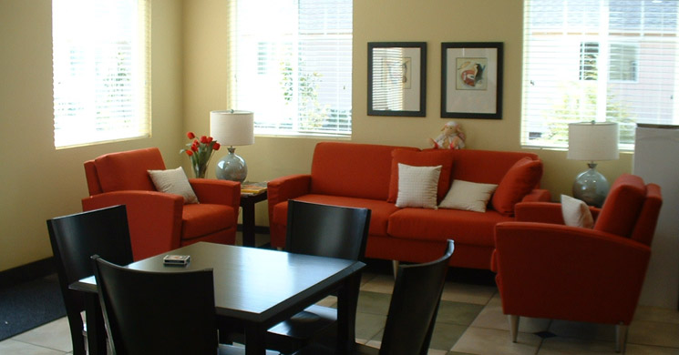 Bistro lounge at Springfield senior living community