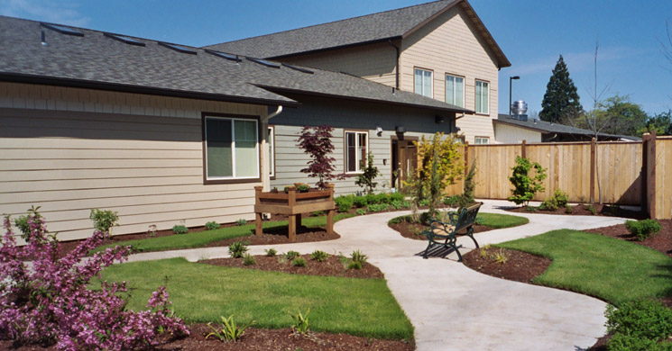 Our Springfield senior living community features secured walking grounds