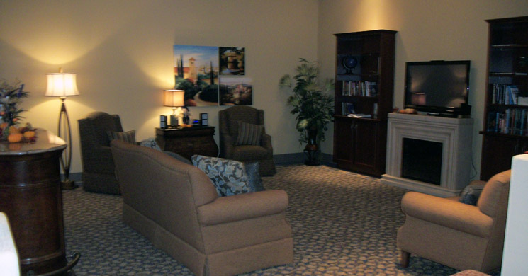 Comfortable living room featured at Boulder City senior living community