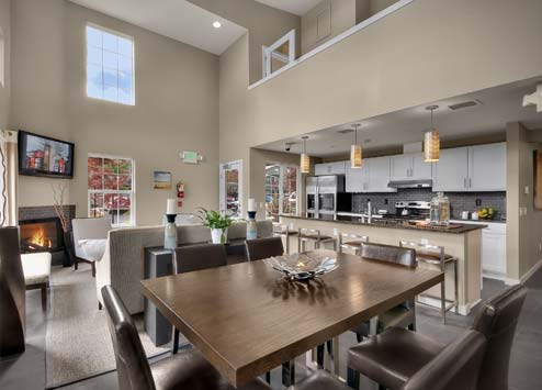 Luxury interiors of The Villages at South Station Tukwila