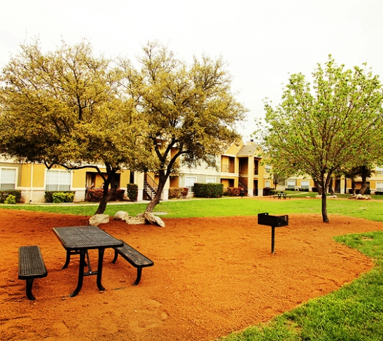 Bbq grill courtyard austin apartments