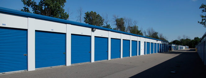 Easy access storage units at Compass Self Storage