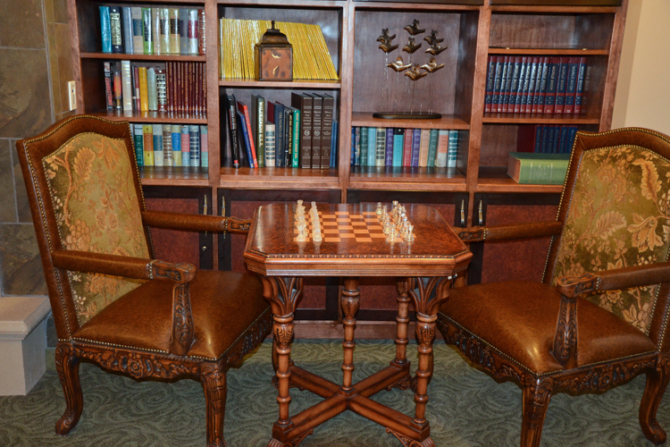 Chess table featured at Alta Manor