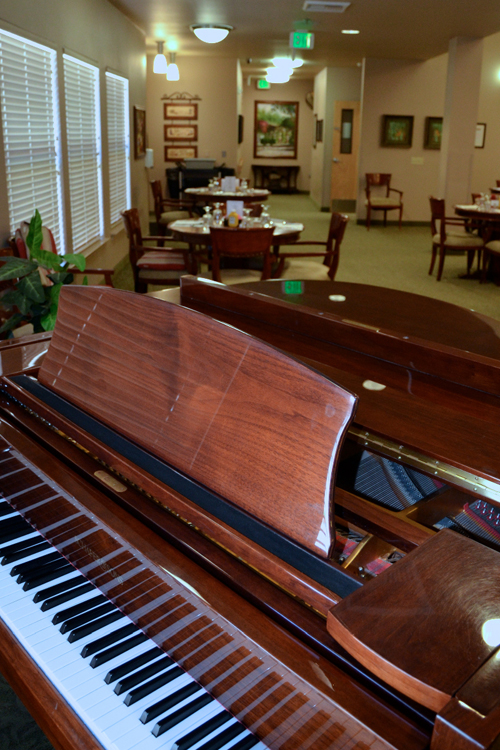 Piano amenities featured at Alta Manor