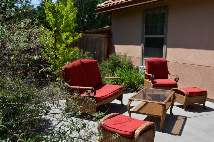 Stylish outdoor patio available at Alta Manor