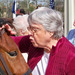 Resident pets horse at Silverado assisted living community in Kingwood Texas