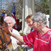 Resident pets horse at Silverado assisted living community in Kingwood TX