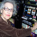 Resident playing slot machines at Silverado memory care center in Kingwood Texas