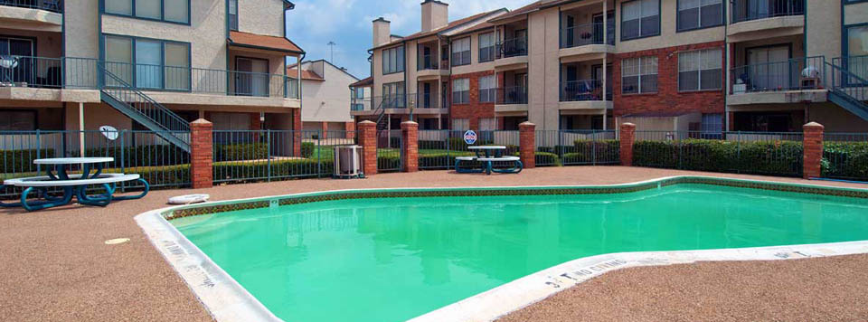 Take a dip in the Dallas apartments swimming pool
