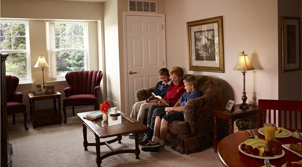 Apartment interiors at senior living in Rochester Hills are bright and comfortable.