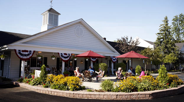 Senior living in Rochester Hills has a fun, vibrant exterior