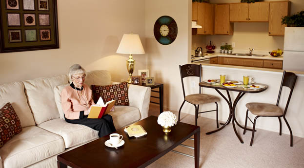 Spacious senior living apartments in Troy are the perfect fit for area seniors