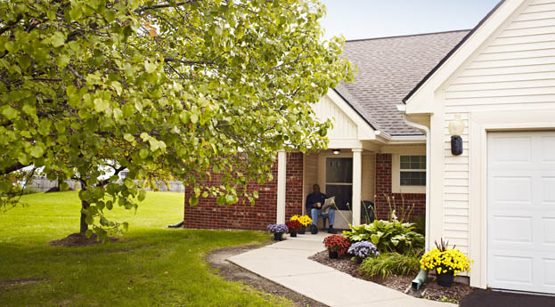 The cottages at the senior living community in Hazel Park are an attractive living option
