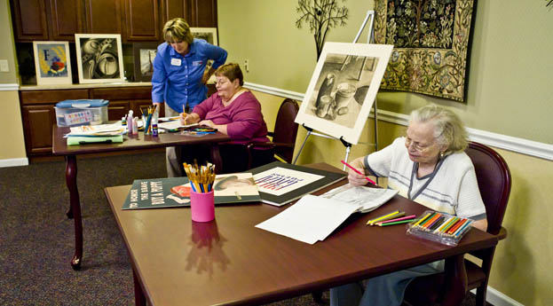 Senior living in Livonia has a fun activity room for residents