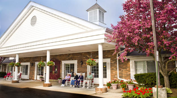 Senior living in Livonia has a welcoming building exterior