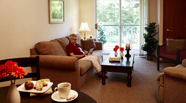 Senior living apartments in Riverview are spacious and comfortable