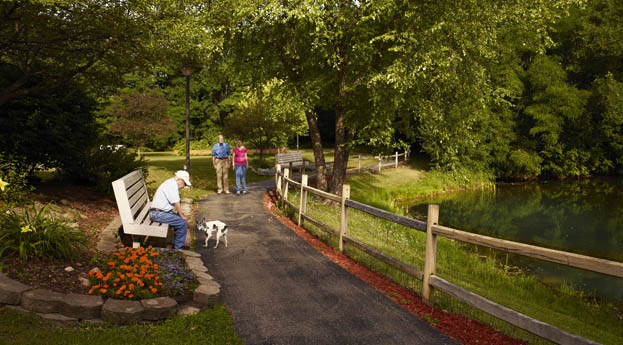 Enjoy the outdoors in the park at senior living in Ypsilanti