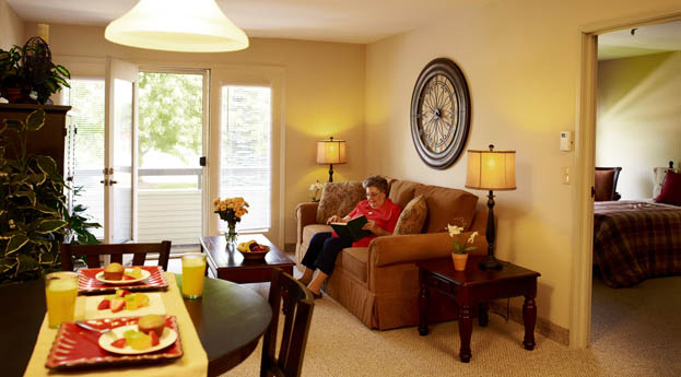 Senior apartments in Ypsilanti are bright and cozy