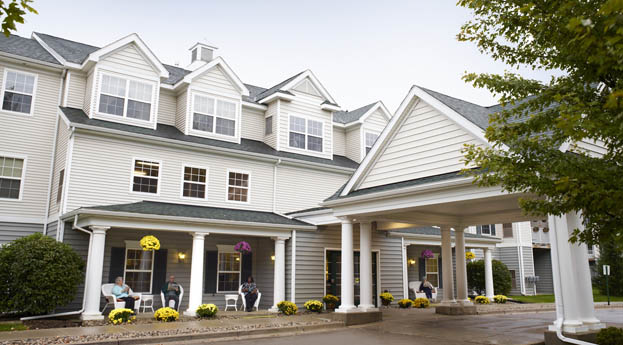 Senior living in Flint has a welcoming exterior