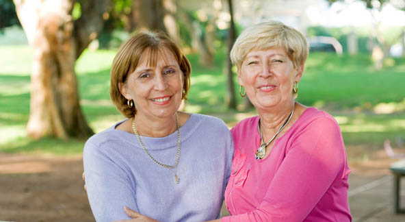 Senior girlfriends at Milestone Retirement Communities