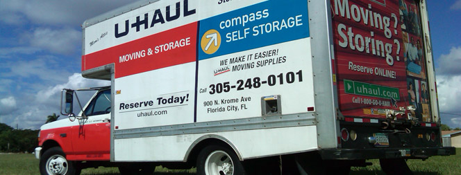 Uhaul truck at Compass Self Storage