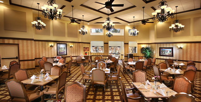 Corona senior living dining