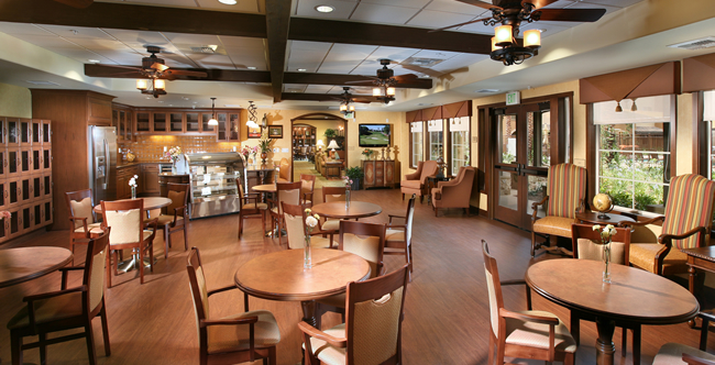 Dining room at Corona CA senior living