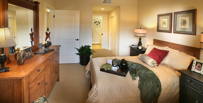 One bedroom senior living apartment