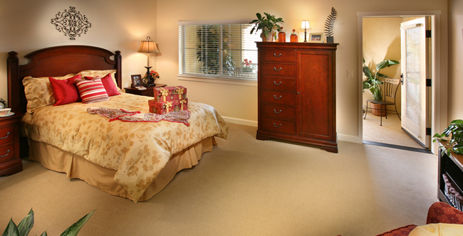 Senior living apartments bedroom