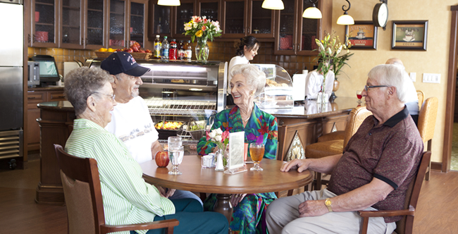 Senior living residents