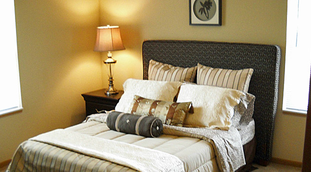 Milford Senior Living bedroom suite