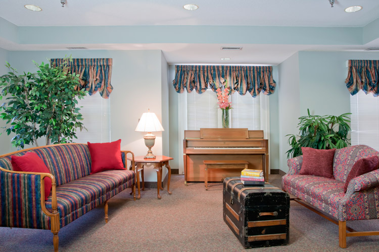 Community living area at senior living community in Woodbury