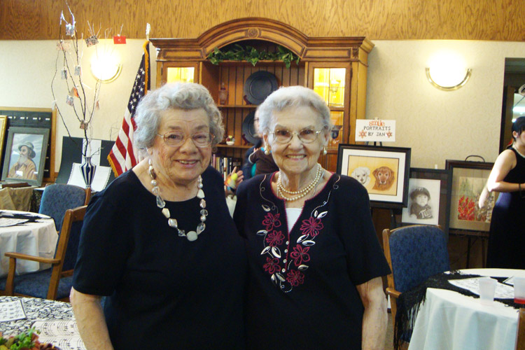 Smiling seniors featured at Woodbury Senior Living community