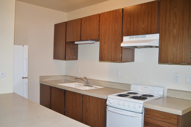 Fully equipped kitchens at senior living community in Walnut Creek, CA